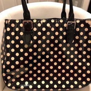 Kate Spade polka dots large tote patent bag
